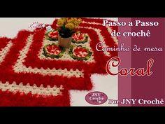 PAP de crochê Caminho de mesa Coral (Parte 1) por JNY Crochê - YouTube