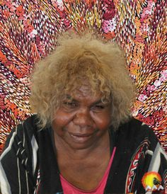 Artist: Lynette Corby Nungurrayi | Skin Name: Nungurrayi | Born: c.1958 | Region: Mount Liebig, NT | Language: WARLPIRI/LURITJA | Subjects and Themes(Dreaming): My Country, Rock Holes, Tree roots.