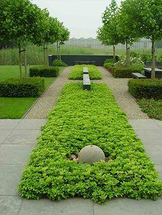 symmetrie in de tuin