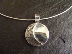 Silver Moon Pendant necklace with Sterling Silver by dAgDesigns, £39.50