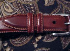 Men's Fossil Belt Genuine Leather Brown Size 40 Waist Silverplated Buckle  #FOSSIL #WaistBelt