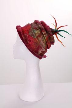 Felt Hat with Fabrics   Flickr - Photo Sharing!
