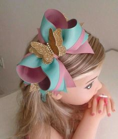 Best 11 Minnie Mouse inspired eat hair clips or nude nylon headband. Inspired by my little Minnie Mouse lover, these ears are made Big Hair Bows, Making Hair Bows, Stacked Hair, Hair Bow Tutorial, Boutique Hair Bows, Girls Hair Accessories, Cute Bows, Girls Bows, Baby Bows