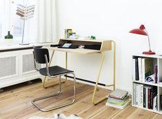 Writing desks, home office desks and bureaus or just a catch all space. Furniture Depot, Office Furniture, Furniture Design, Panton Chair, Filigranes Design, Interior Design Software, Contract Furniture, Modern Desk, Arredamento