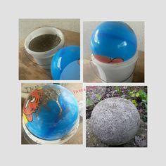 diy: coole deko-vase/windlicht aus glas und beton selber machen, Garten und erstellen