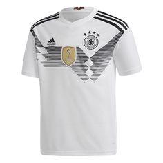 10597816b adidas Germany Youth Home 2018 World Cup Stadium Jersey (White Black)