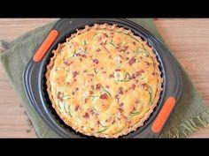 Glutenfreie Quiche mit Zucchini und Pilzen Video - das Video zeigt, wie man einen leckeren glutenfreien Quicheboden backt und dann füllt