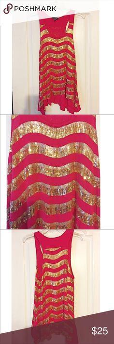 🎊 CLOSET CLEAR OUT! 🌻 Pink Sequins Bebe Shirt Pink Sequins Bebe Shirt. bebe Tops Blouses