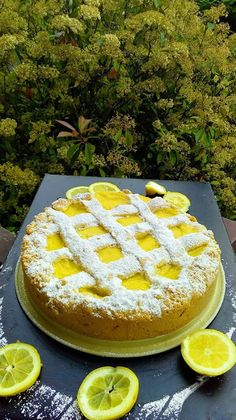 Lemon Recipes, Fruit Recipes, My Recipes, Sweet Recipes, Dessert Recipes, Greek Sweets, Greek Desserts, Party Desserts, Banana Cream Pies