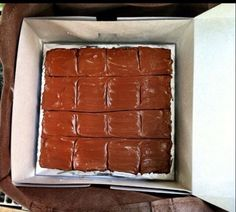 Brownie bars with choco buttercream frosting