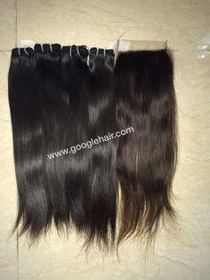3 Bundles Weft Hair With Closure 4x4 High Quality More hair at website: www.googlehair.com Order hair on Whatsapp: +84 1675494612