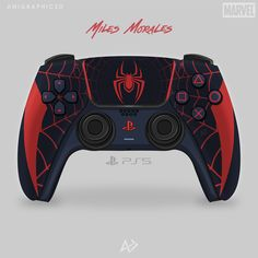 Spider Man Miles Morales, Miles Morales Spiderman, Nintendo Switch Accessories, Gaming Accessories, Ps4 Controller Custom, Tupac Pictures, Mundo Dos Games, Spiderman Movie, Video Game Rooms