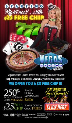 See that Vegas Casino Online promotions are various for new and loyal players, making it one of the best choices for promo seekers in the casino industry. New players earn a sign-up bonus $25 Free Chip No Deposit and get an enhance bankroll on the first deposit up to $10000 Bonus. Sign-up bonus $29 Free Chip no deposit bonus with promo-code: BPRO29. By providing documents and receiving approval withdrawals will be quicker and a free no deposit chip will be placed directly into your account. Best Online Casino, Online Casino Bonus, Best Casino, Money Games, Vegas Casino, Online Invitations, Free Money, Choices, Coding