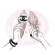 Ice cream cheers to hot summer!