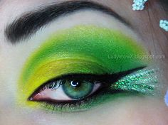 Tinkerbell Inspired - Makeup Tutorial by The Crow and the Powderpuff - #tinkerbell #makeup #eyeshadow