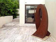 Cor-ten steel Sculpture #landscapearchitecture Steel Sculpture, Corten Steel, Outdoor Entertaining, Landscape, Design, Home Decor, Scenery, Decoration Home, Room Decor