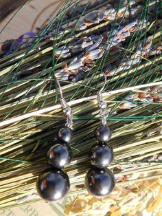 **EMF Protective~  SHUNGITE GEMSTONE EARRINGS**  AVAILABLE! Check them Out Here:
