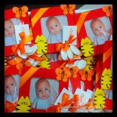 marco de de fotos de madera con animalitos detalles de bautizo niños, nens, detalles para invitados