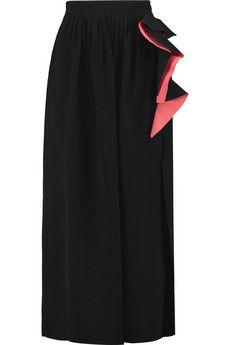 Roksanda Lorette ruffled crepe midi skirt | THE OUTNET