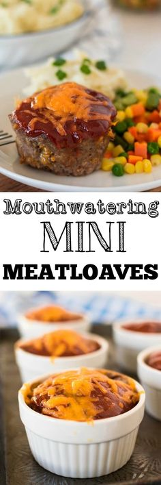 This ain't your Momma's meatloaf. These mouthwatering Mini Meatloaves, which have cheese mixed right in and are topped with a sweet sauce that gets baked in, have been one of our family favourites for years.