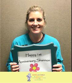 Wishing Shannon a HAPPY 1 year anniversary! #dfcadent #dentistry #happyanniversary #thankyou #ourteamrocks