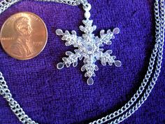 Silver Tone Snowflake  Pendant and Chain by JanHallDesigns on Etsy, $14.00