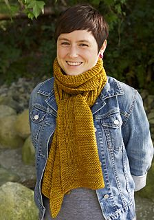 I'm not usually a fan of rectangular scarves but I like the simplicity of this free pattern from Tin Can Knits.