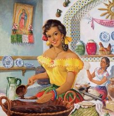 💛vintage mexican art💗luv it Mexican Artwork, Mexican Paintings, Mexican Folk Art, Mexican Style, Jesus Helguera, Arte Latina, Jorge Gonzalez, Hispanic Art, Mexican Heritage