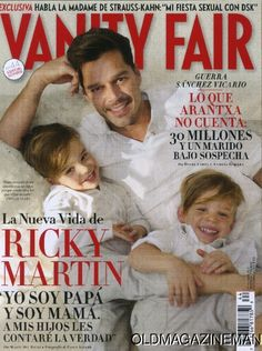 Ricky Martin and his twin sons