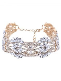GET $50 NOW | Join RoseGal: Get YOUR $50 NOW!http://www.rosegal.com/necklaces/openwork-floral-rhinestone-choker-necklace-807055.html?seid=9164810rg807055