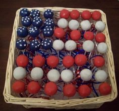 Memorial Day Party Ideas | Memorial Day Cake Pops by sherri