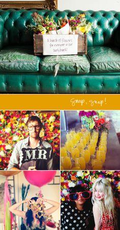 floral backdrop from Blogshop