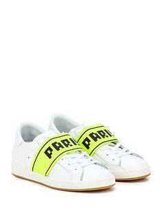 PHILIPPE MODEL PARIS - Sneakers - Donna - Sneaker in pelle con suola in gomma, tacco 30, platform 20 con battuta 10. - WHITELEMON - € 285.00