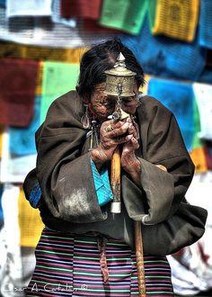 Prayer, Tibet by Cesar Catalan