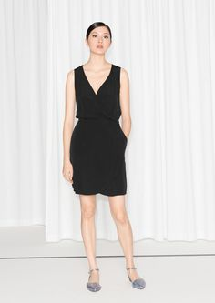 & Other Stories   Fold-Over Dress