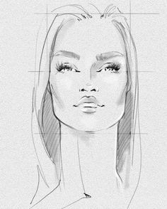Makeup looks for fashion illustration free template for drawing fashion face study quick sketches art style fashionstyle fashionillustrator pronofoot35fo Gallery