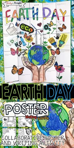 EARTH DAY, COLLABORATIVE POSTER, WRITING ACTIVITY, GROUP PROJECT   This Earth Day collaborative poster is spring fun with coloring, creativity, and Earth Day poster group work! All inspired by promoting Earth Day and enjoying an April spring activity in your classroom.