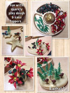 "Fun with sparkly play dough & cake toppers - from Rachel ("",)"
