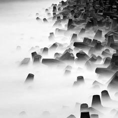 Long exposure sea wall