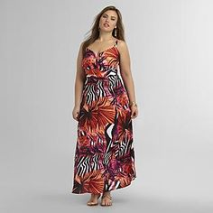 Love Your Style, Love Your Size Women's Plus Maxi Dress - Floral & Animal Print - Clothing - Women's Plus - Dresses