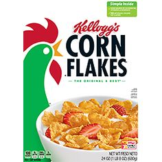 Ready-to-eat breakfast cereal made from corn. Snack Recipes, Dinner Recipes, Snacks, General Mills Cereal, Cheerios Cereal, Best Cereal, Cornflakes, Healthy Cereal, Crusted Chicken