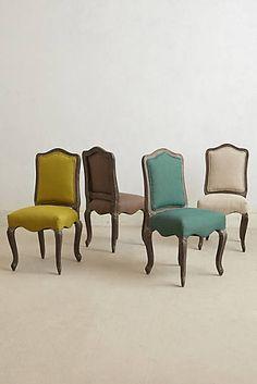 Chaise de salle à manger en lin Beatrix