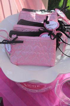 Goody bags filled with candy make up