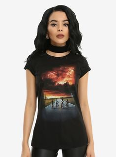 Hot Topic : Stranger Things Season 2 Poster Girls T-Shirt Stranger Things Merchandise, Stranger Things Logo, Stranger Things Season, Purple Fashion, Kids Girls, Kids Fashion, Cute Outfits, Season 2, Clothes