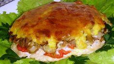 """Просто потрясающе вкусное сочетание мяса и грибов! Поистине царское угощение! """"Мясо с грибами в духовке"""" Рецепт здесь... http://vkusno-em.com/myaso-s-gribami-v-duxovke/"""