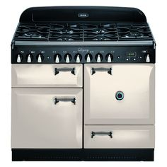 AGA Legacy Series 44 Inch Freestanding Dual Fuel Range with cu. Multifunction Oven, Broiling Oven, Storage Drawer, and Solid Doors in Ivory New Kitchen, Kitchen Decor, Kitchen Ideas, Kitchen Stuff, Kitchen Inspiration, Kitchen Designs, Aga Stove, Aga Range, Range Cooker
