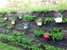 Mom's Backyard Retaining Wall