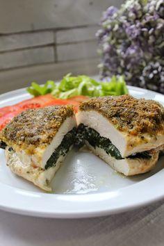 Na Cozinha da Té: Peito de frango recheado com legumes e queijo Nã...