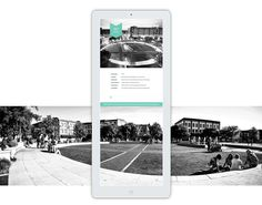 A visitor's guide to Ellis Square in Savannah GA.An interactive and informational magazine created exclusively for the iPad.Unlike the typical printed rack cards offering tourists information about the square, this issue features animations, video, imm… Website Design Layout, Website Design Inspiration, Layout Inspiration, Tablet Ui, Ipad, Modern Website, Tourist Information, Digital Magazine, Interactive Design