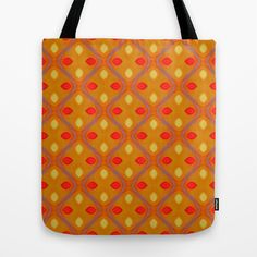 Pattern orange no. 2 Tote Bag by Christine baessler - $22.00